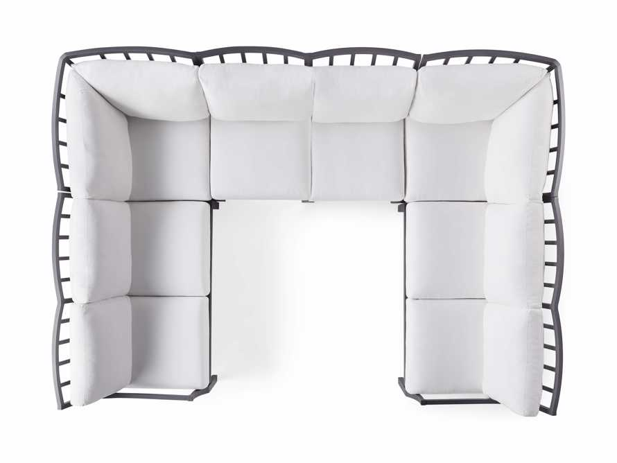 "Montego Outdoor 122.5"" Six Piece Sectional, slide 5 of 5"