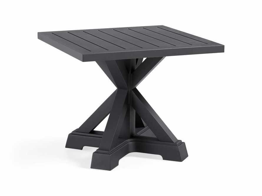 Montego Outdoor End Table in Slate, slide 4 of 7