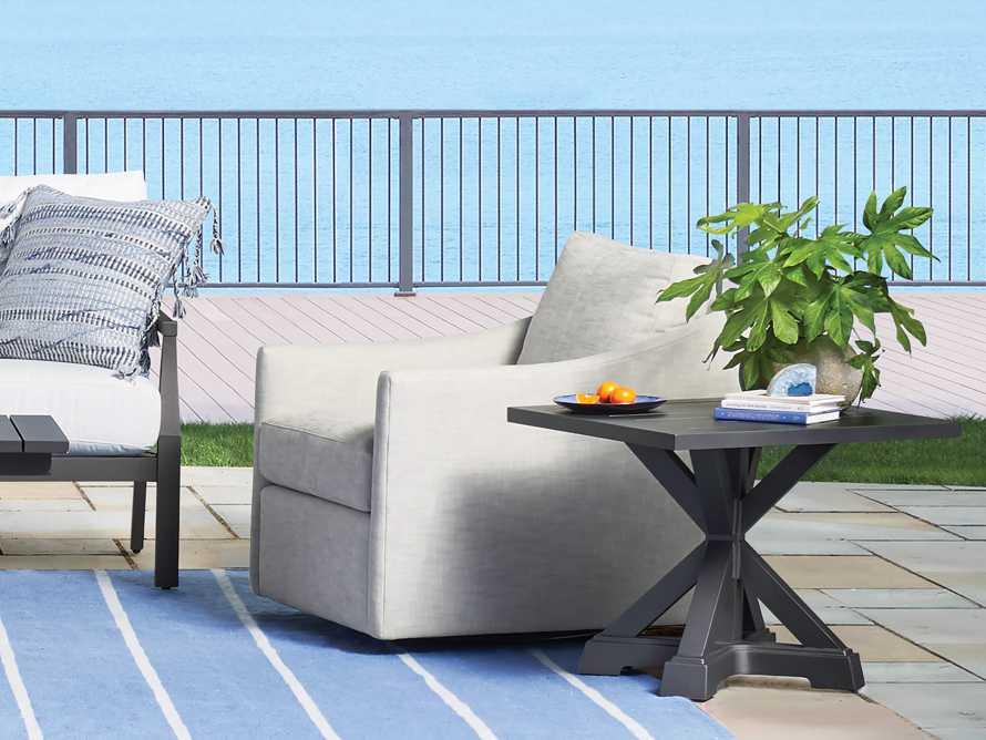 Montego Outdoor End Table in Slate, slide 2 of 7