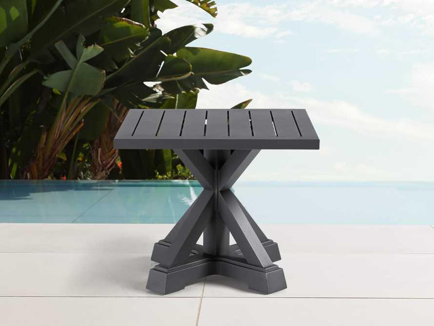 Montego Outdoor End Table in Slate, slide 1 of 6