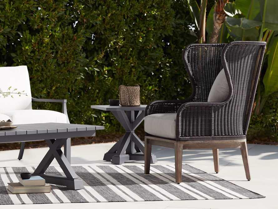 Montego Outdoor End Table in Slate, slide 6 of 6
