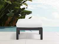 "Montego Outdoor 26"" Ottoman in Slate"