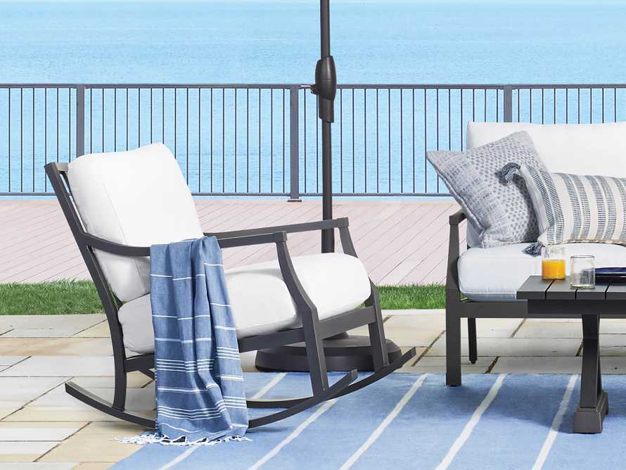 "Montego Outdoor 27"" Rocking Chair in Slate, slide 1 of 6"