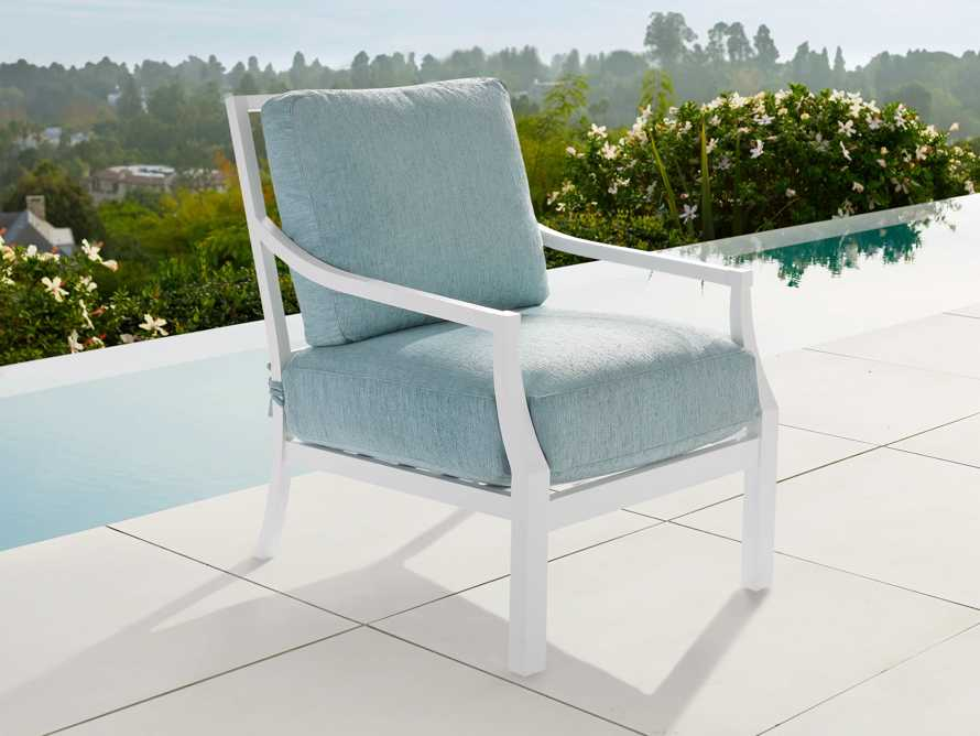 """Montego Outdoor 27"""" Lounge Chair in Blanc, slide 2 of 9"""