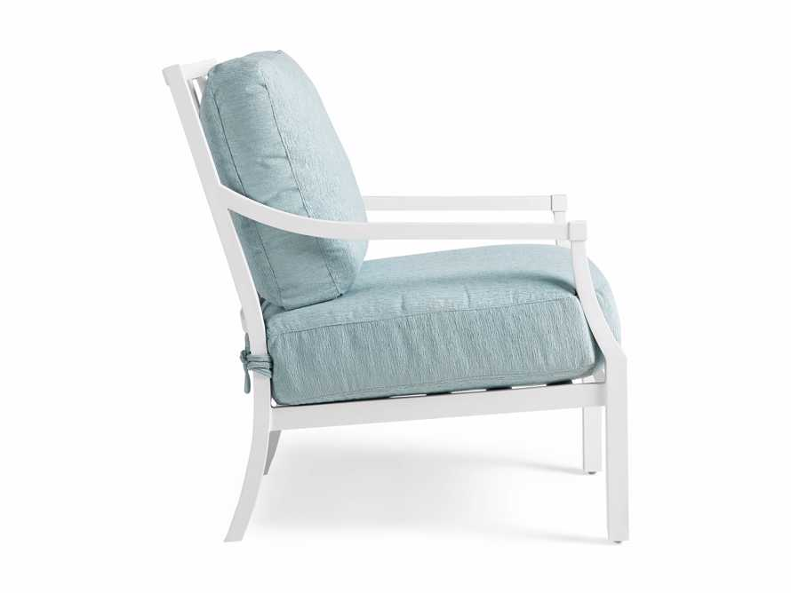 """Montego Outdoor 27"""" Lounge Chair in Blanc, slide 4 of 9"""