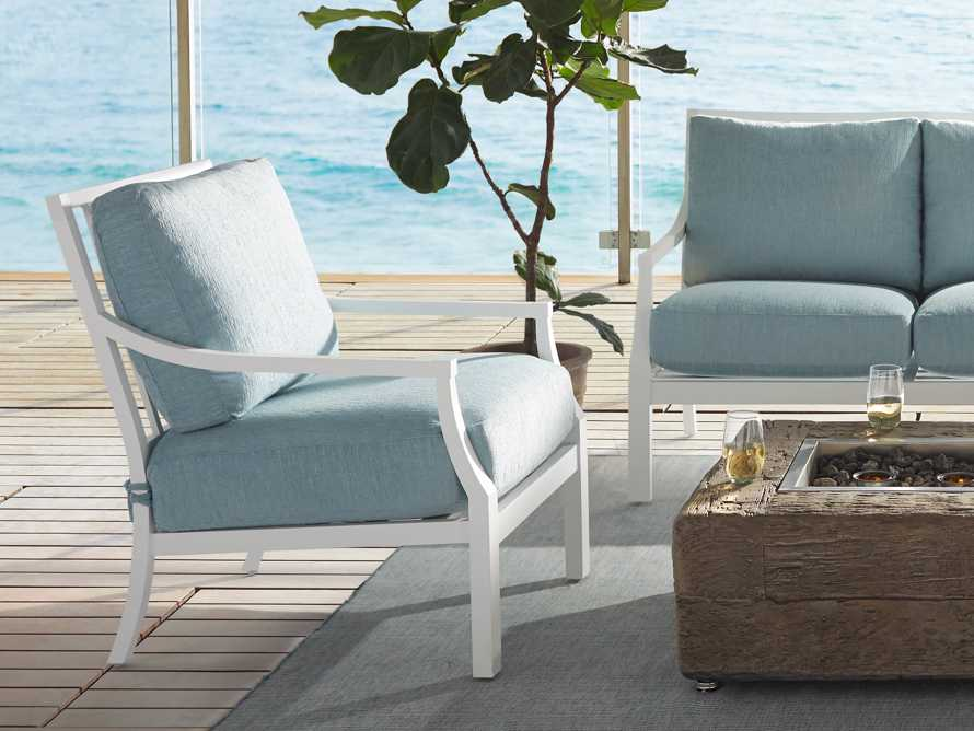 """Montego Outdoor 27"""" Lounge Chair in Blanc, slide 7 of 9"""