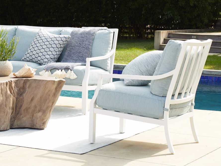 """Montego Outdoor 27"""" Lounge Chair in Blanc, slide 1 of 9"""