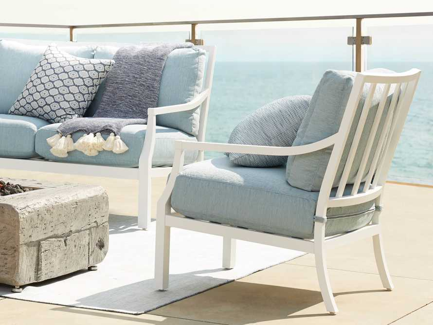 """Montego Outdoor 27"""" Lounge Chair in Blanc, slide 9 of 9"""