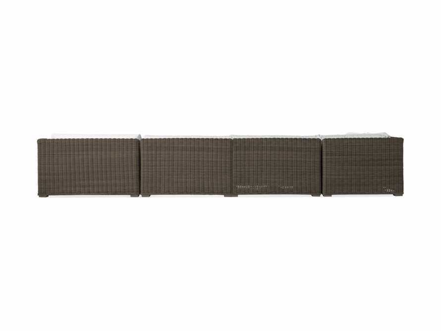 "Montauk Outdoor 193"" Five Piece Sectional in Dry Bark, slide 4 of 5"