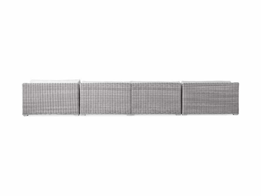 "Montauk Outdoor 204"" Four Piece U Sectional in Vista Grey, slide 4 of 5"
