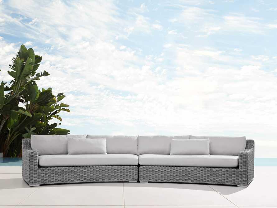 "Montauk Outdoor 186.5"" Modular Sofa in Vista Grey, slide 1 of 7"