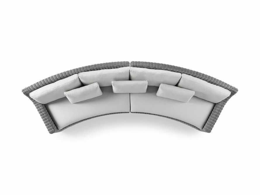 "Montauk Outdoor 186.5"" Modular Sofa in Vista Grey, slide 6 of 7"