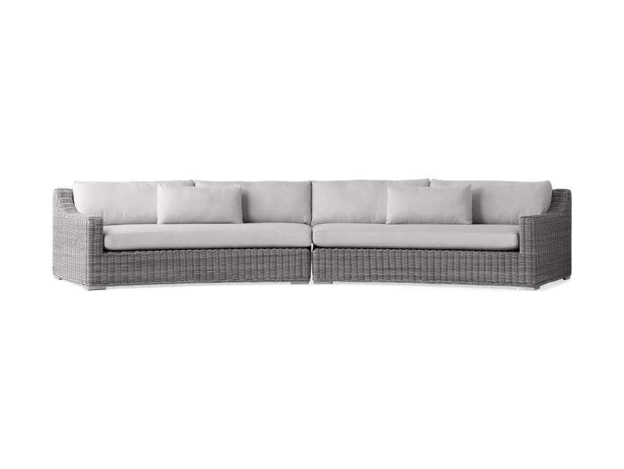 "Montauk Outdoor 186.5"" Modular Sofa in Vista Grey, slide 2 of 7"