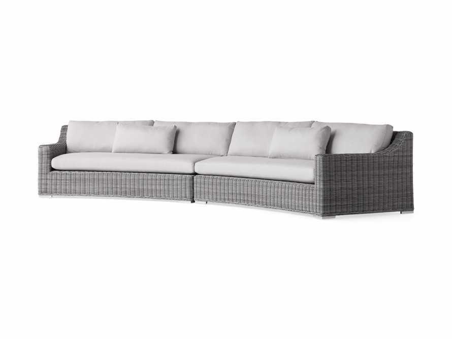 "Montauk Outdoor 186.5"" Modular Sofa in Vista Grey, slide 3 of 7"