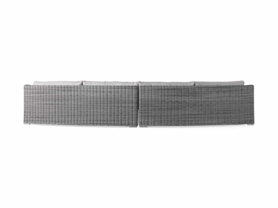 "Montauk Outdoor 186.5"" Modular Sofa in Vista Grey, slide 5 of 7"