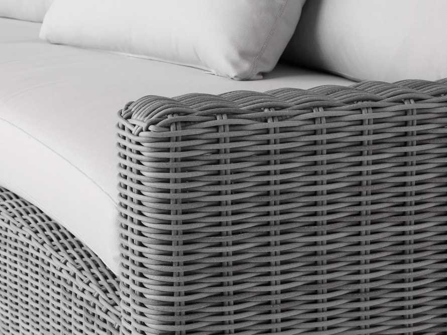 "Montauk Outdoor 186.5"" Modular Sofa in Vista Grey, slide 7 of 7"