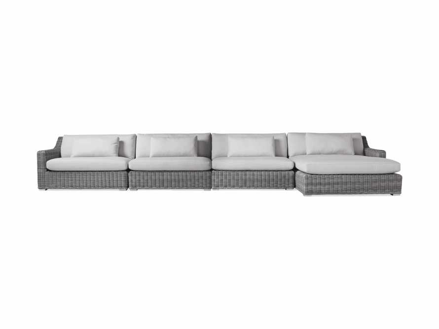 "Montauk Outdoor  204"" Four Piece Reverse L Sectional in Vista Grey, slide 2 of 5"
