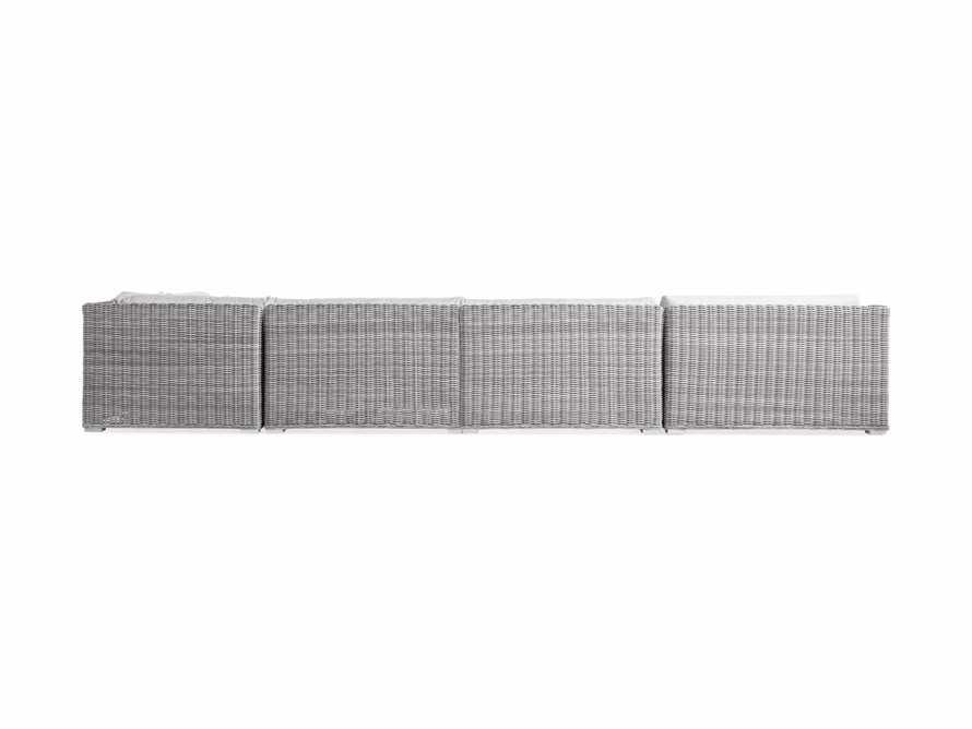 "Montauk Outdoor 193"" Six Piece Reverse Sectional in Vista Grey, slide 4 of 5"