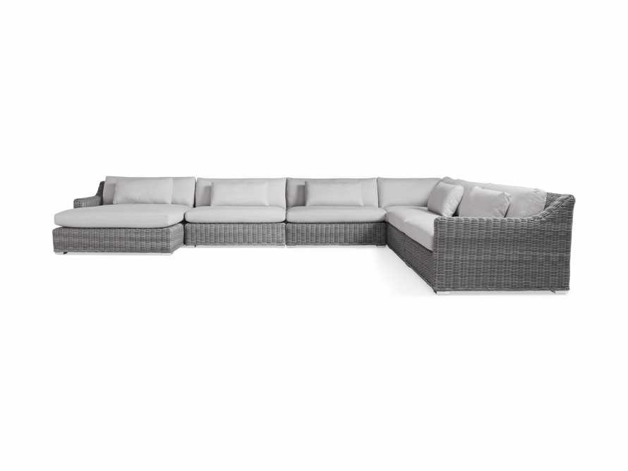 "Montauk Outdoor 193"" Six Piece Reverse Sectional in Vista Grey, slide 2 of 5"