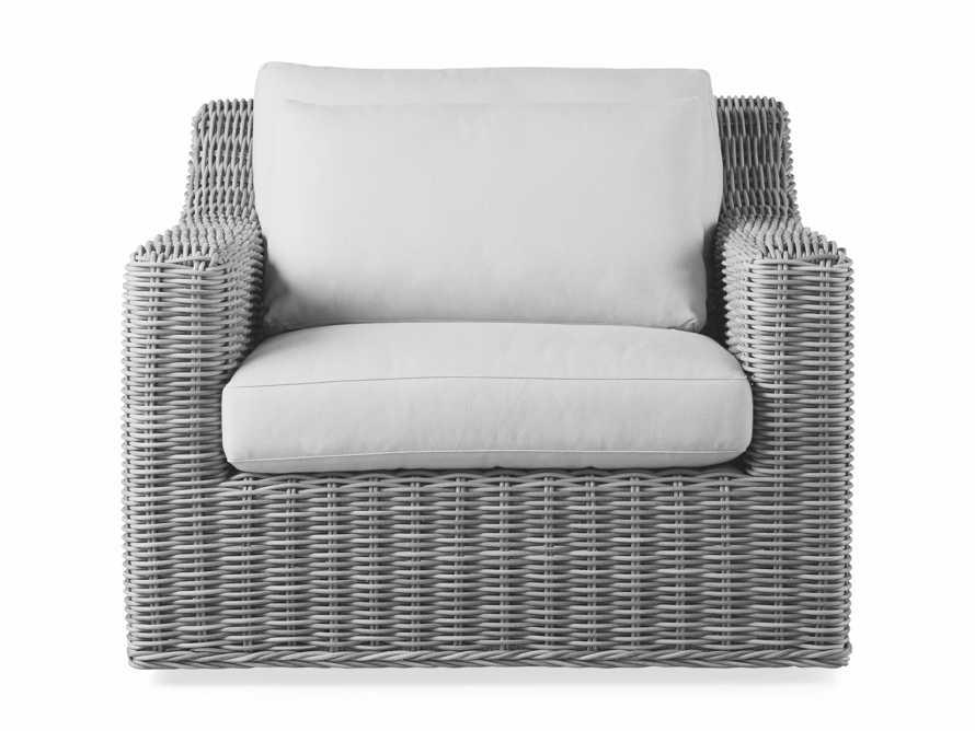 """Montauk Outdoor 38.5"""" Swivel Chair in Vista Grey, slide 3 of 7"""