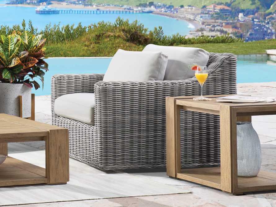"""Montauk Outdoor 38.5"""" Swivel Chair in Vista Grey, slide 2 of 7"""