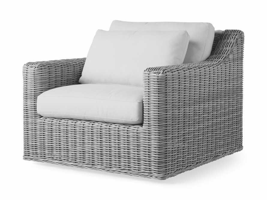 """Montauk Outdoor 38.5"""" Swivel Chair in Vista Grey, slide 4 of 7"""