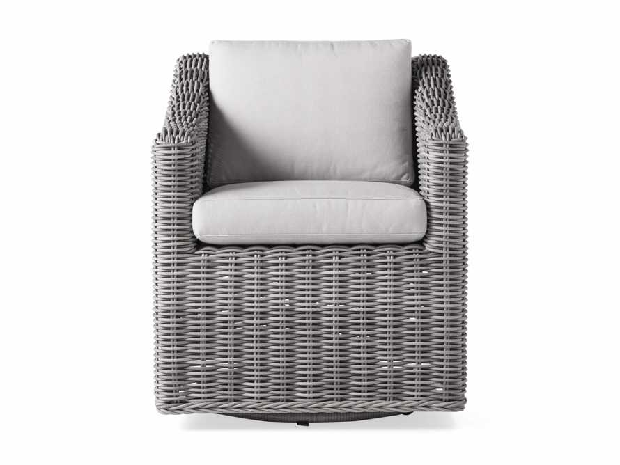 "Montauk Outdoor 26"" Dining Arm Chair in Vista Grey, slide 3 of 7"
