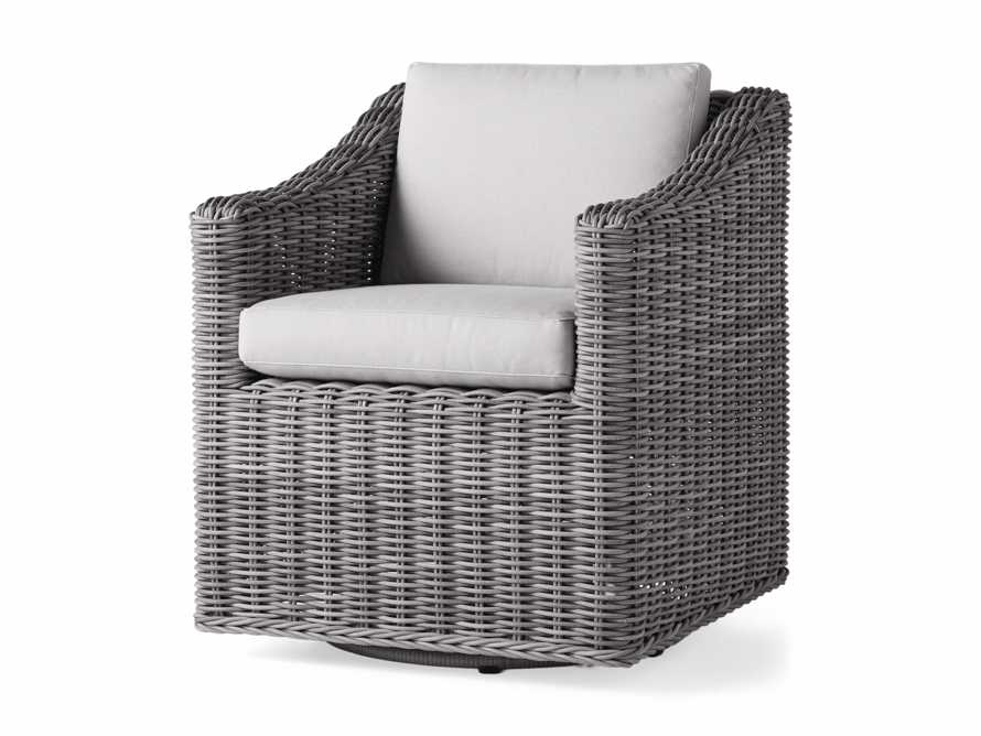 "Montauk Outdoor 26"" Dining Arm Chair in Vista Grey, slide 4 of 7"