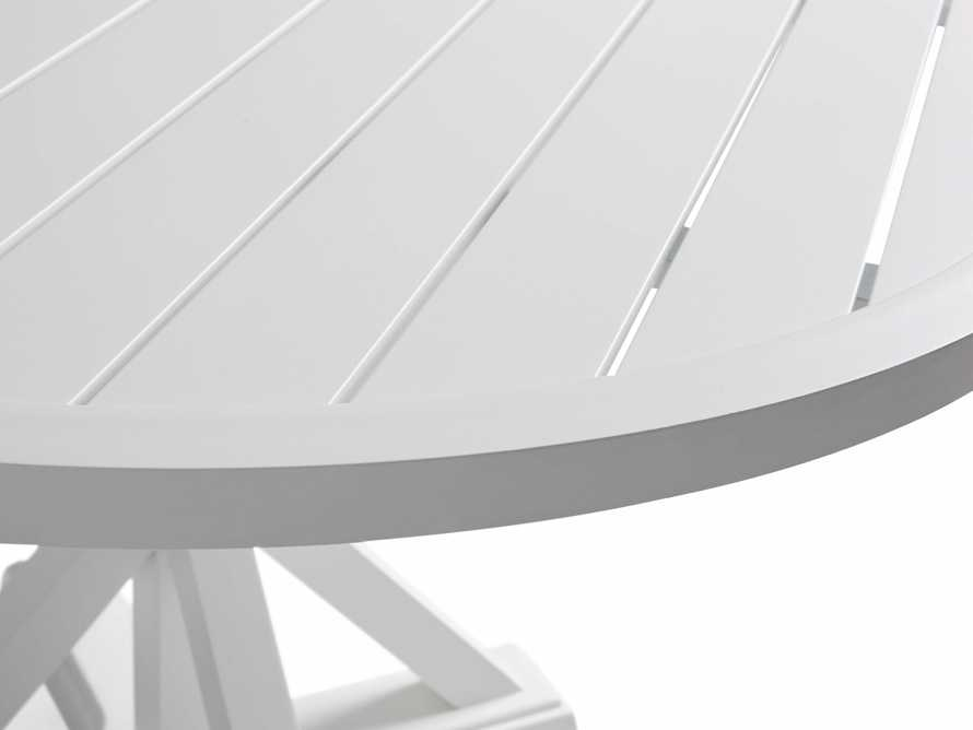 """Montego Outdoor 60"""" Round Dining Table in White, slide 6 of 6"""