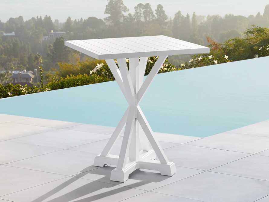"""Montego Outdoor 42"""" Bar Table in Blanc, slide 1 of 5"""