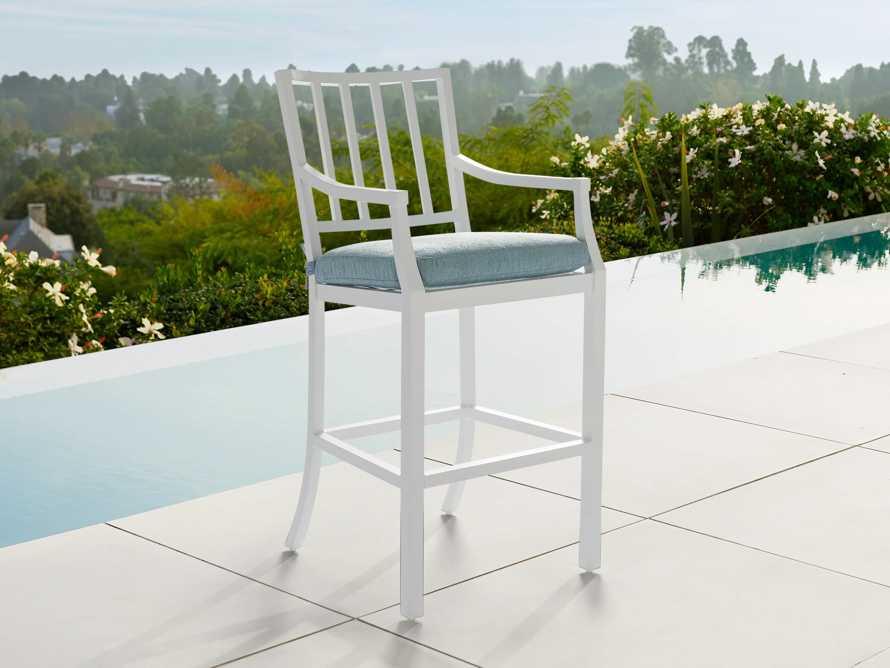 "Montego Outdoor 23"" Barstool in Blanc"