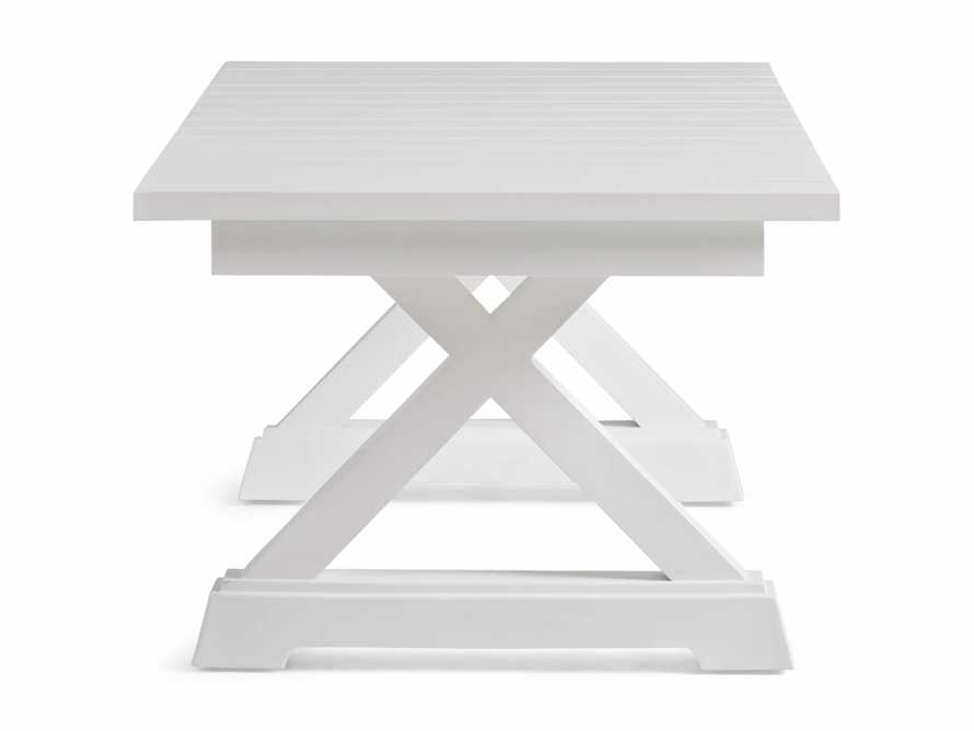 Montego Outdoor Coffee Table in Blanc, slide 3 of 5