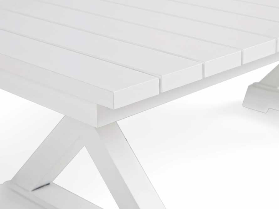 Montego Outdoor Coffee Table in Blanc, slide 4 of 5
