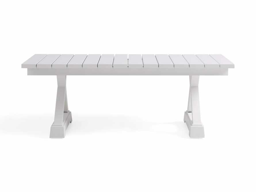 Montego Outdoor Coffee Table in Blanc, slide 2 of 5
