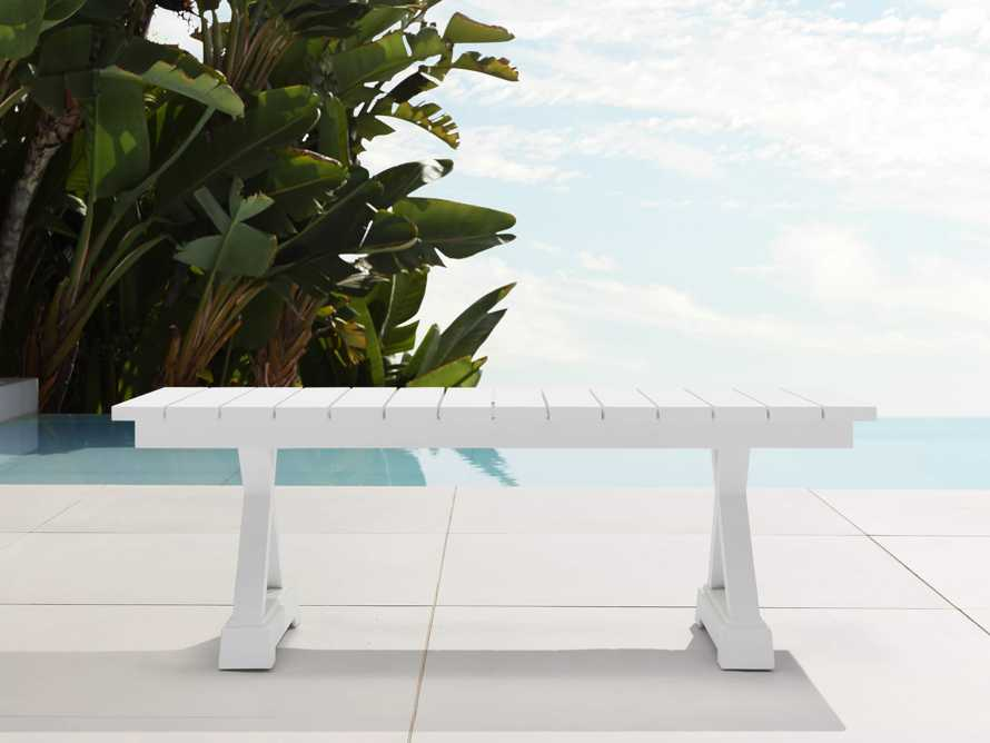 Montego Outdoor Coffee Table in Blanc, slide 1 of 5