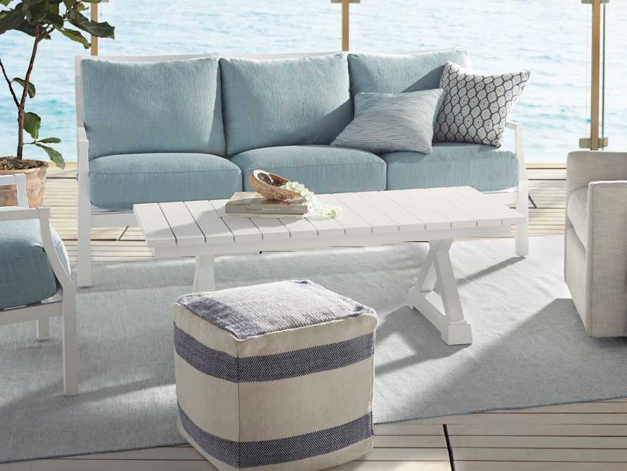 Montego Outdoor Coffee Table in Blanc, slide 5 of 5
