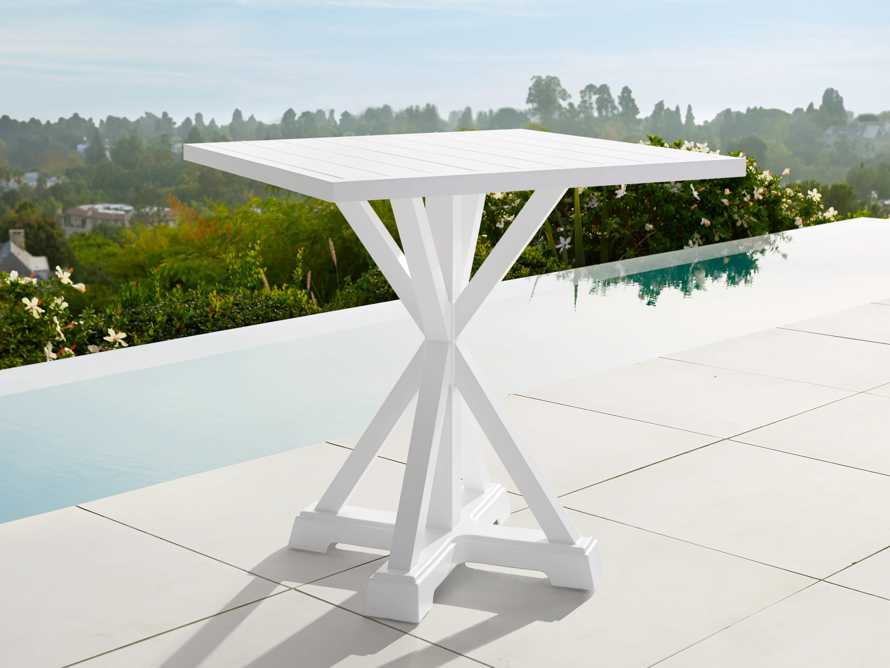 "Montego Outdoor 36"" Counter Table in Blanc, slide 1 of 5"