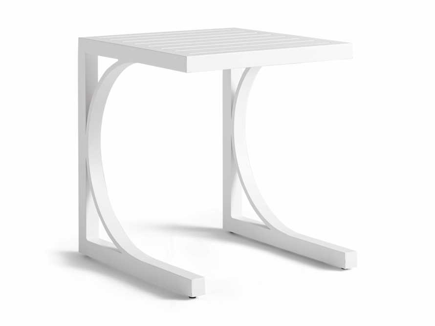 Montego Outdoor C Side Table in Blanc