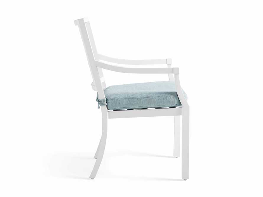 "Montego Outdoor 23"" Dining Arm Chair in Blanc, slide 4 of 7"