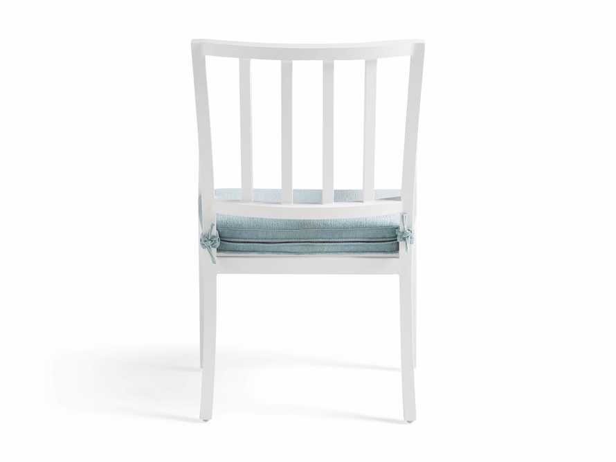 "Montego Outdoor 23"" Dining Arm Chair in Blanc, slide 5 of 7"