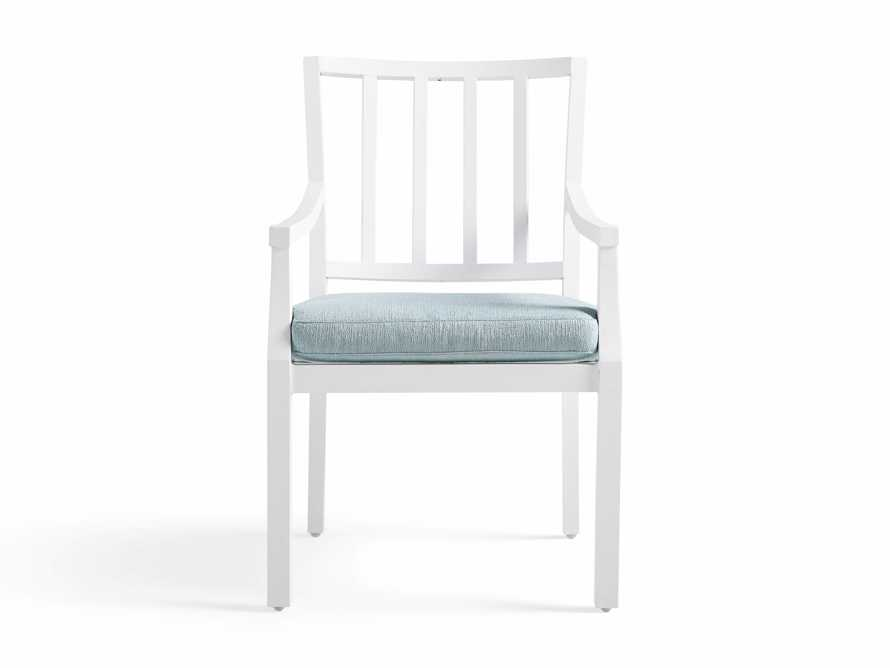 "Montego Outdoor 23"" Dining Arm Chair in Blanc, slide 3 of 7"