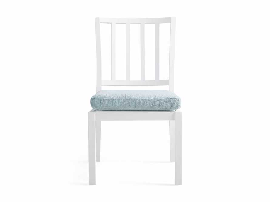 """Montego Outdoor 20"""" Dining Side Chair in Blanc"""