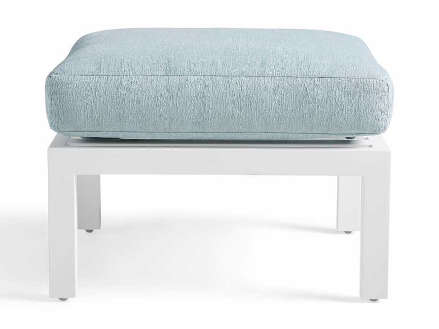 "Montego Outdoor 26"" Ottoman in Blanc, slide 2 of 3"