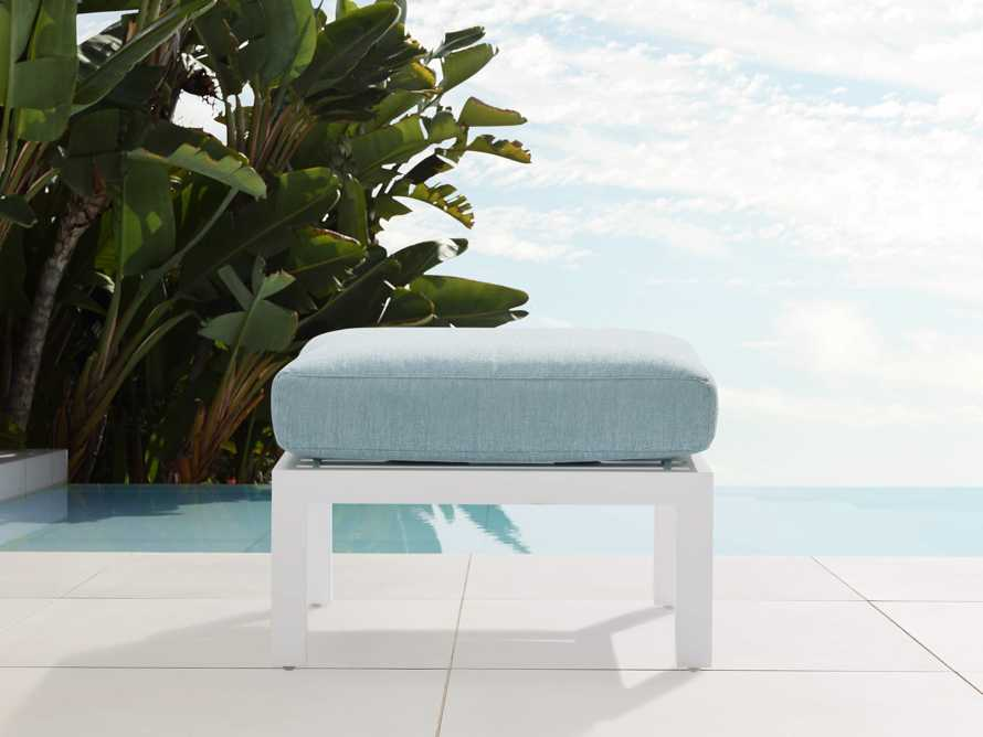 "Montego Outdoor 26"" Ottoman in Blanc, slide 1 of 3"
