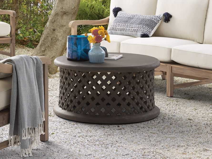 "Naples Outdoor 36"" Coffee Table in Fossil, slide 1 of 5"
