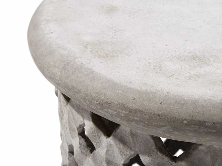 "Naples Outdoor 22"" End Table in Grey Fossil"