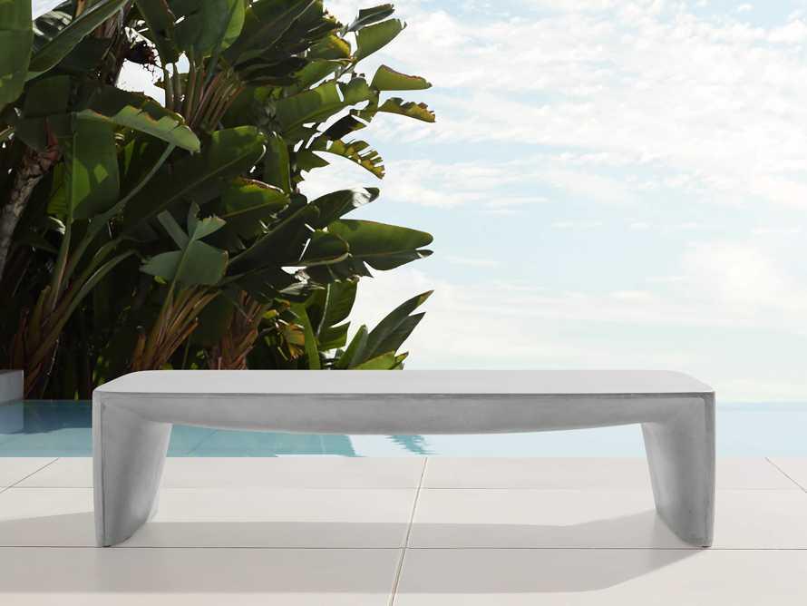 "Nueva Outdoor 63"" Stone Coffee Table, slide 2 of 7"