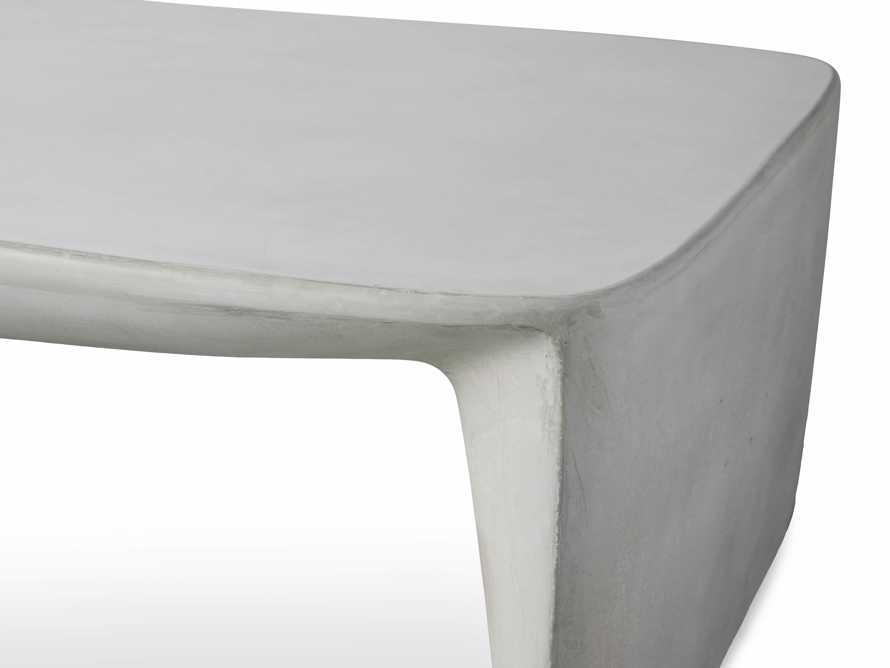 "Nueva Outdoor 63"" Stone Coffee Table, slide 5 of 7"