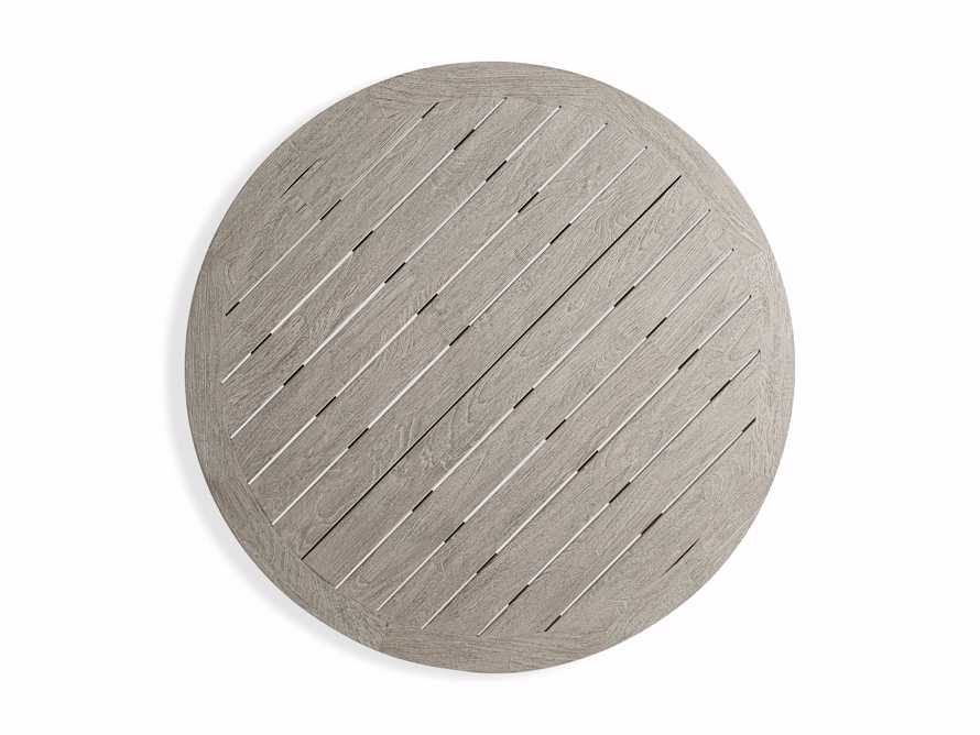 Palmer Outdoor Round Nesting Coffee Table in Driftwood Grey, slide 6 of 9