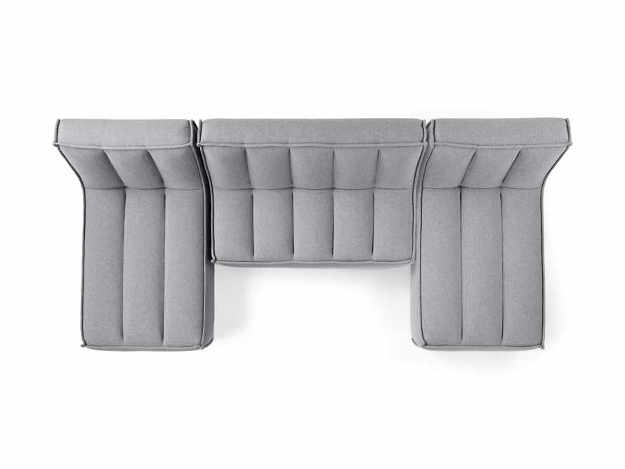 """Porto Outdoor Upholstered 132"""" Three Piece Double Chaise Sectional in Southend Grey, slide 4 of 6"""